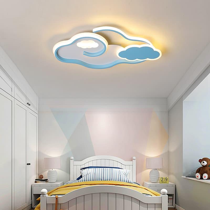 蓝色云朵儿童吸顶灯 001306
