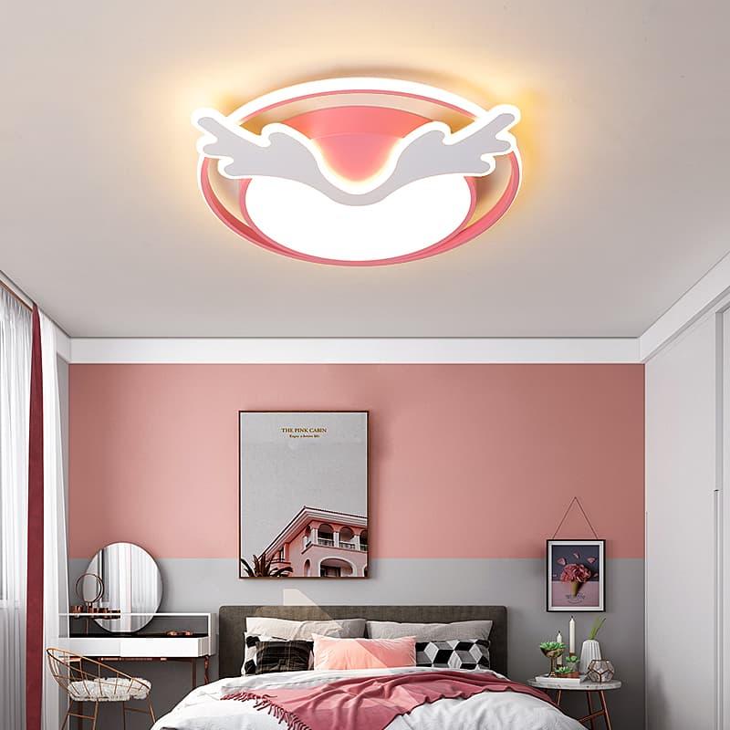 粉红色麋鹿儿童吸顶灯 001308