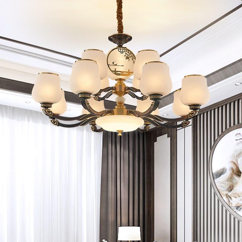 全铜新中式吊灯 00558018