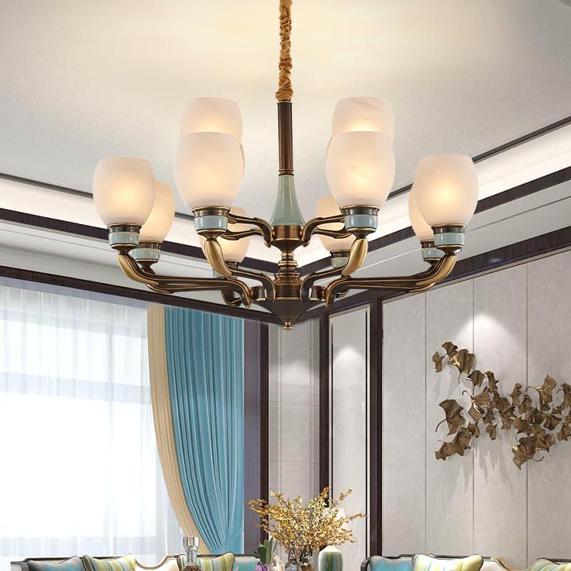 全铜陶瓷新中式吊灯 0056879