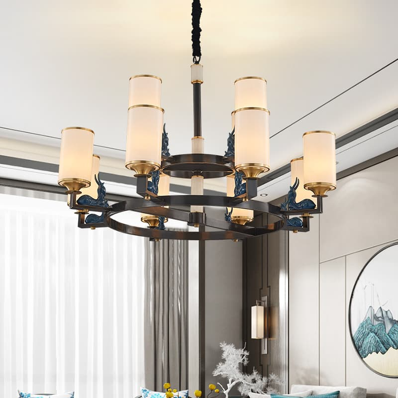 铁艺陶瓷新中式吊灯 00588121