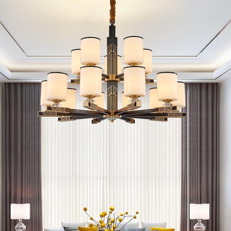 铁艺陶瓷新中式吊灯 00588301