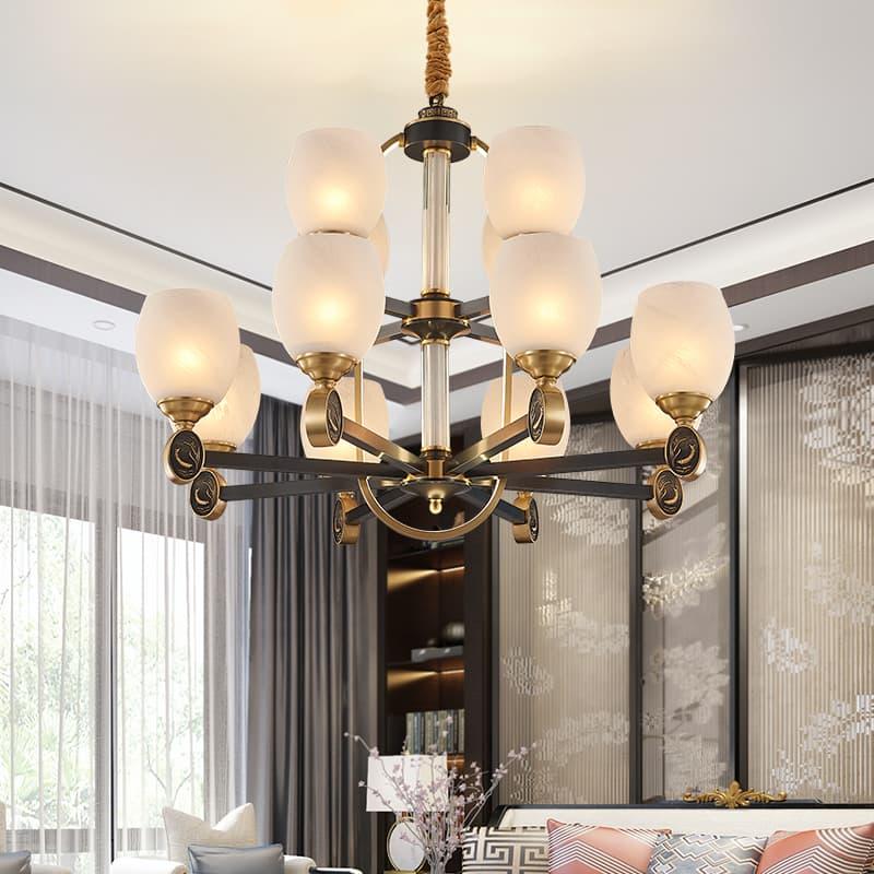 铁艺陶瓷新中式吊灯 00588307